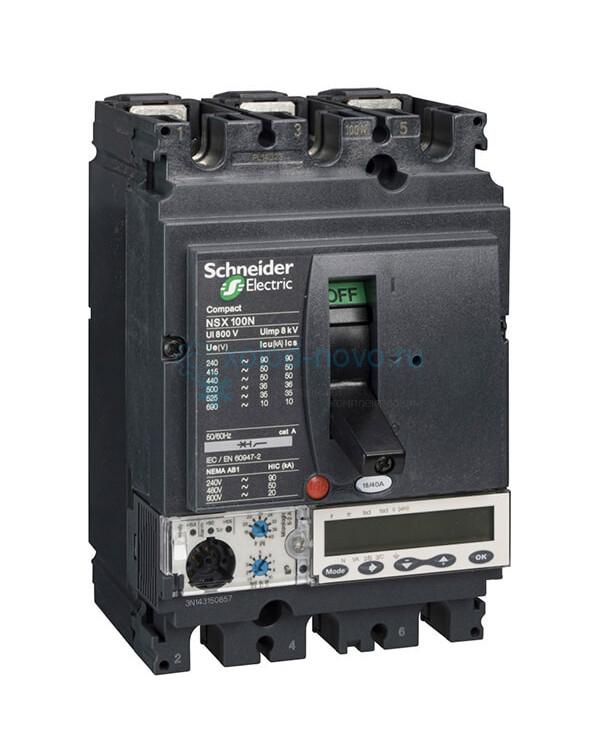 Выключатель автоматический 3П2Т ТМ25D NSX100B