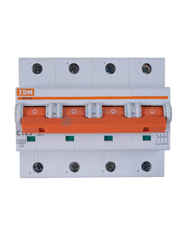 Выключатель автоматический TDM ВА47-125 4Р 125А 15кА