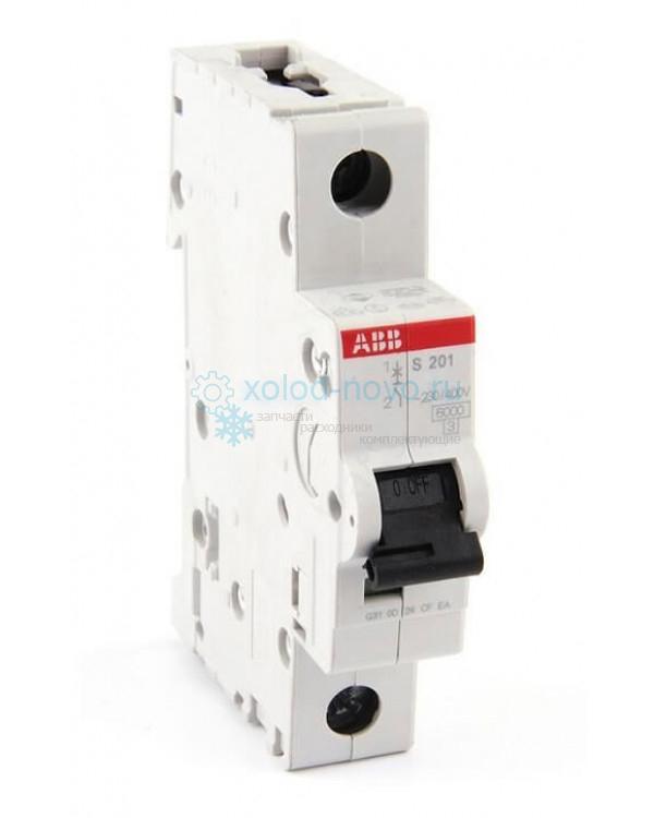 Выключатель автоматический 1-полюсный ABB S201, тип C, 50А, 6кА