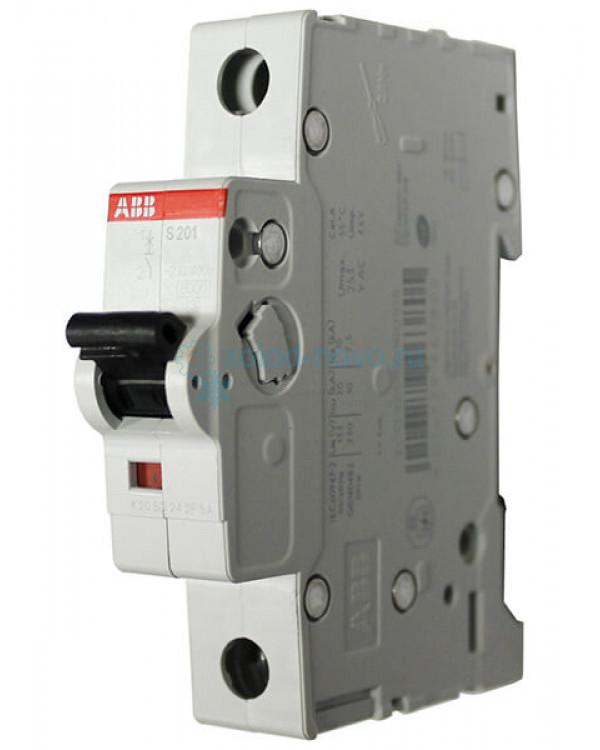 Выключатель автоматический 1-полюсный ABB S201, тип C, 63А, 6кА