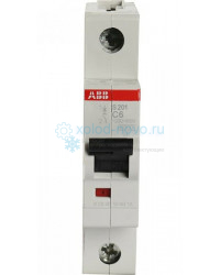 Выключатель автоматический 1-полюсный ABB S201, тип C, 6А, 4,5кА