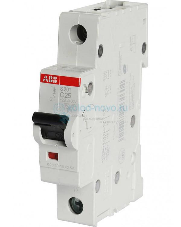 Выключатель автоматический 1-полюсный ABB S251, тип C, 25А, 6кА