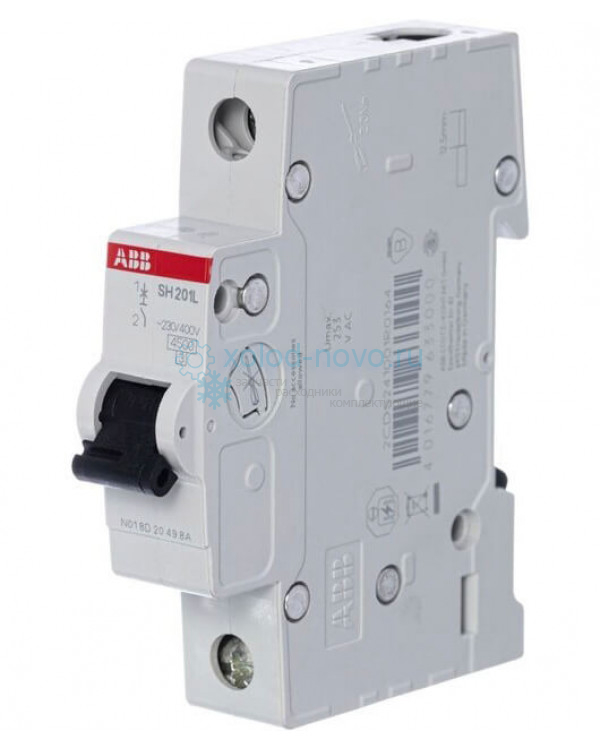 Выключатель автоматический 1-полюсный ABB SH201L, тип C, 25А, 4.5кА