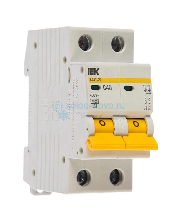 Выключатель автоматический 2-полюсный ИЭК ВА47-29, тип C, 40А, 4.5кА