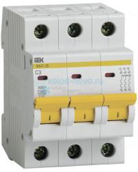Выключатель автоматический 3-полюсный ИЭК, тип C, 35А, 4.5кА