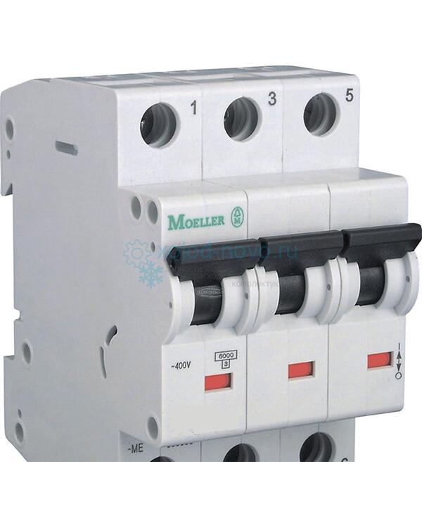 Выключатель автоматический 3-полюсный Моеller, тип C, 25А, 6кА