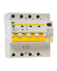 Выключатель автоматический дифференциальный IEK АД14 4P 25А 30мА