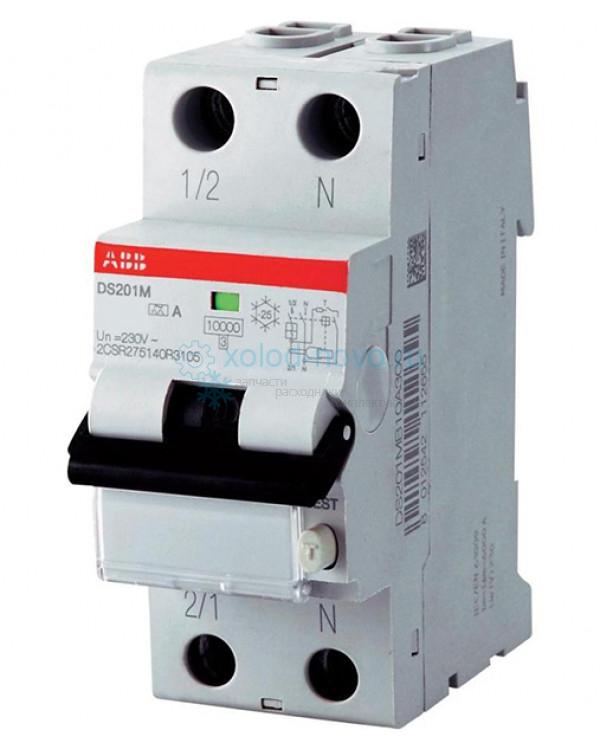 Выключатель автоматический дифференциальный мод. 2п C 6А  I=0.03A ABB