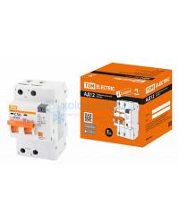 Выключатель автоматический дифференциальный TDM АД12 2P 50А 30мА