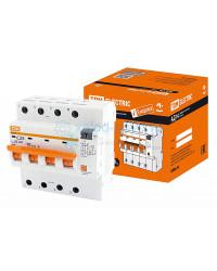Выключатель автоматический дифференциальный TDM АД14 4P 25А 30мА