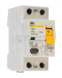 Выключатель автоматический дифференциальный (УЗО) IEK ВД1-63 2Р 16А 30мА