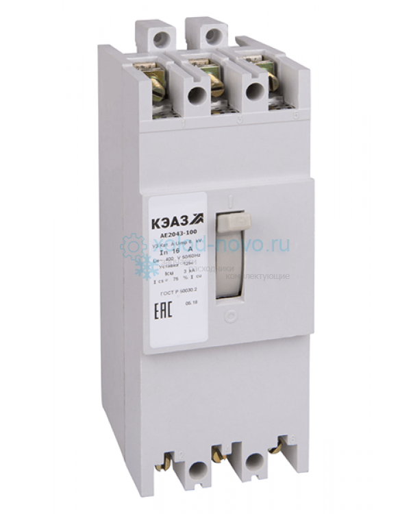 Выключатель автоматический КЭАЗ АЕ2046-100 31,5А