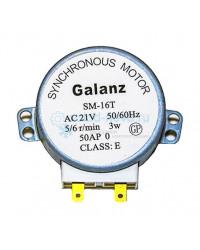 Двигатель вращения стола SM-16T Galanz 30V, 3W, 5/6 rpm, шток 14 мм